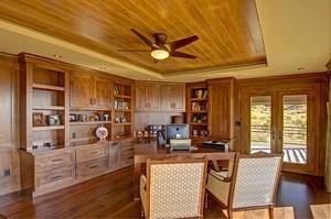 美式乡村风格大户型室内书房装修效果图