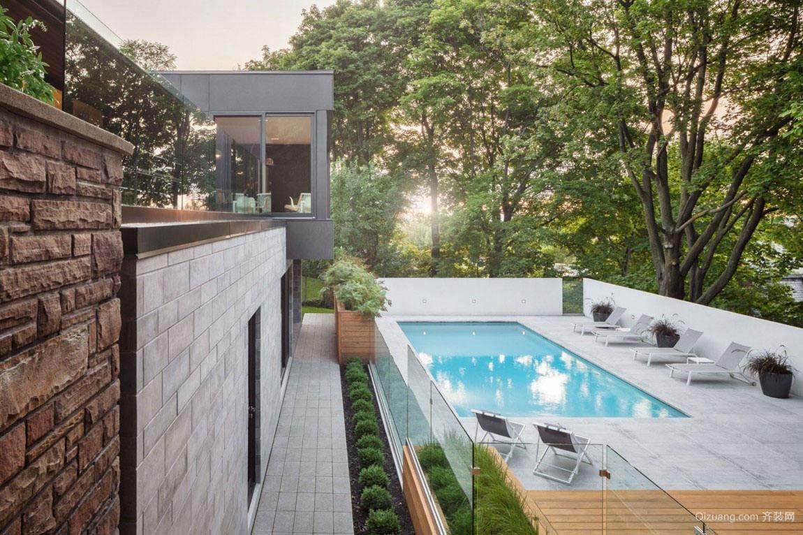 现代风格别墅室外游泳池装修效果图赏析