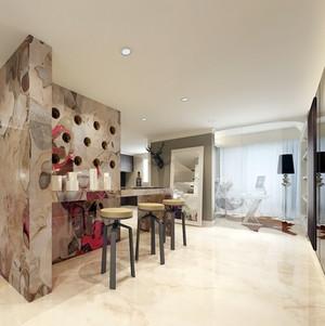 简欧风格单身公寓客厅吧台装修效果图