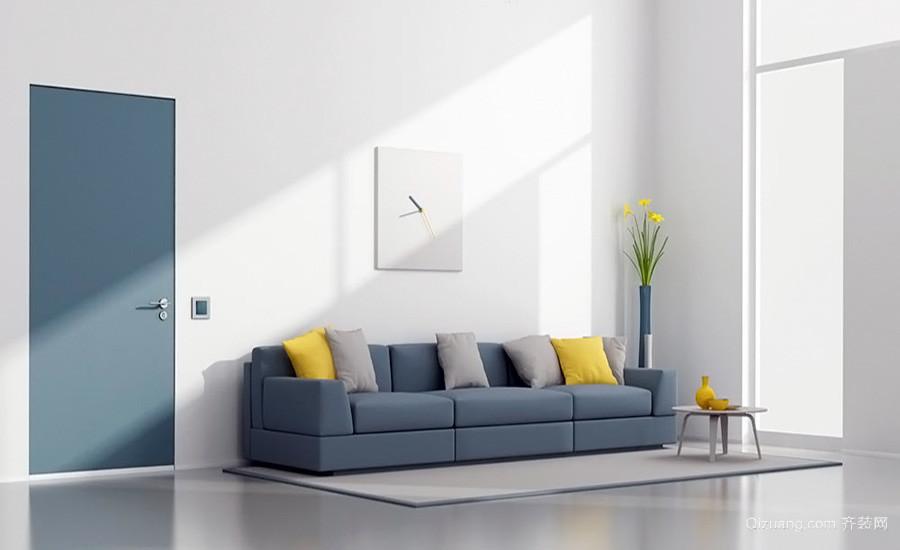 现代简约风格小户型客厅设计效果图