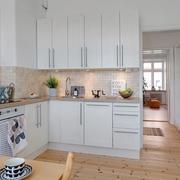 现代简约开放式厨房设计效果图
