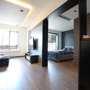现代简约风格开放式卧室装修效果图
