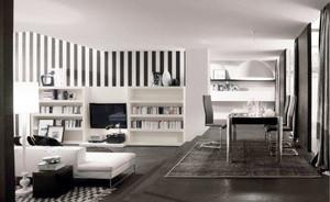 现代中式风格大户型客厅书房装修实景图赏析