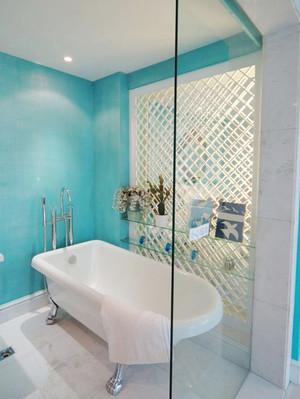 120平米现代时尚混搭蓝色经典公寓装修效果图