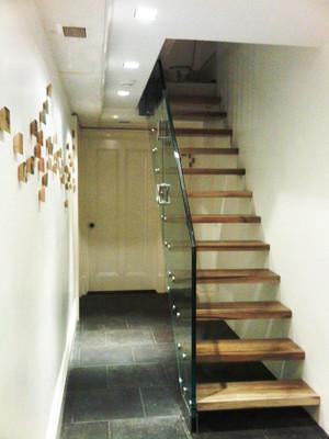 150平米简约风格复式楼实木楼梯装修效果图大全