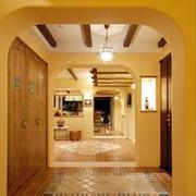 美式风格别墅客厅过道设计效果图
