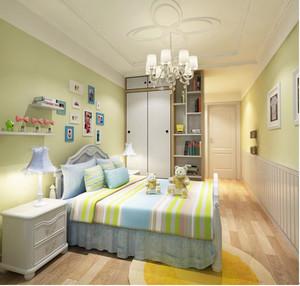 三居室现代简约风格儿童房装修效果图