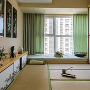90平米日式风格飘窗设计效果图