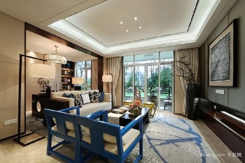 新中式三居室装修效果图