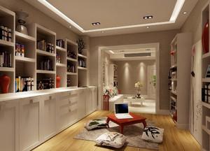 简约欧式小户型书房设计效果图
