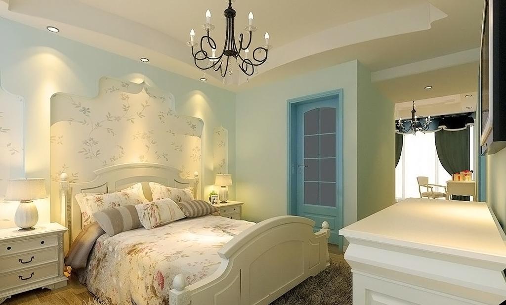 田园风格小户型卧室装修效果图