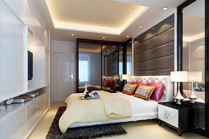 大户型后现代风格卧室装修效果图