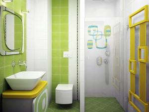 清新自然90平米卫生间装修效果图