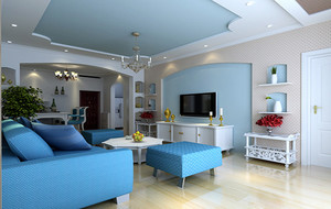 别墅型地中海风格整体装修效果图