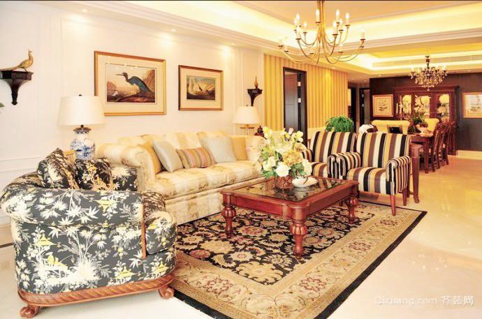 大户型美式风格客厅沙发装修效果图