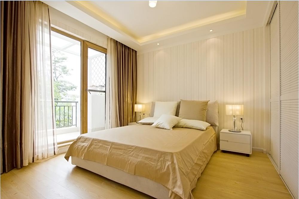 大户型现代简约风格卧室墙纸装修效果图