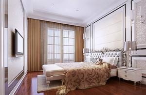 三居室欧式风格卧室地板装修效果图