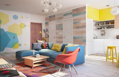 80平米时尚靓丽两室一厅室内设计装修效果图