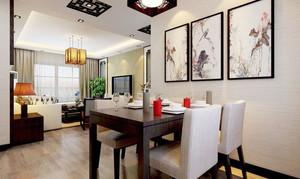 100平米现代中式风格餐厅吊灯装修效果图赏析