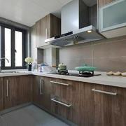 现代风格小户型整体厨房装修效果图
