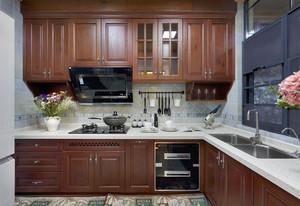 美式厨房橱柜装修效果图