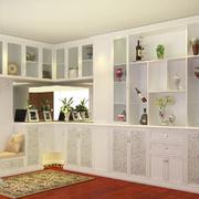 都市简约风格120平米室内书房书架装修效果图
