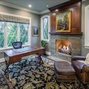 美式风格客厅壁炉装修效果图赏析