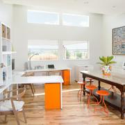 60平米现代简约风格客厅设计实景图