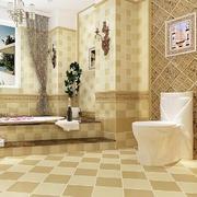 简欧风格精致室内卫生间设计效果图赏析