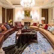 古典美式风格别墅客厅装修效果图