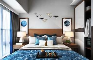 90平米时尚混搭风格卧室装修效果图