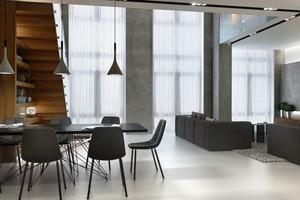 70平米现代loft风格简约创意单身公寓装修效果图