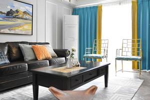两室一厅美式田园风格室内装修效果图鉴赏