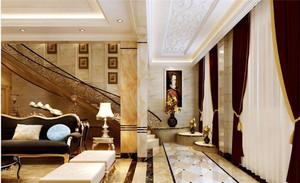欧式风格精致典雅别墅室内装修效果图