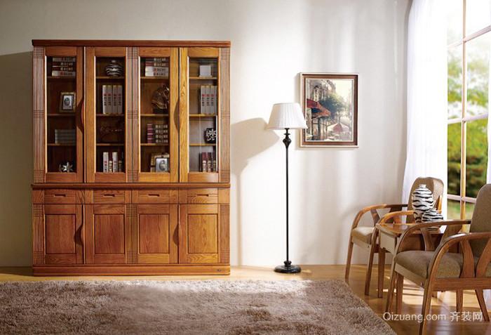 中式风格书房书架装修效果图大全