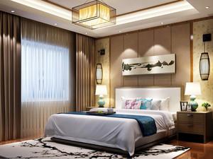 三居室现代简约风格卧室背景墙装修效果图
