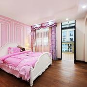 简欧风格粉红色儿童房装修效果图
