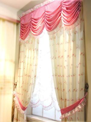 110平米田园风格卧室窗帘效果图赏析