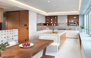 现代简约风格三居室厨房橱柜设计效果图