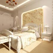 欧式田园风格三居室卧室装修效果图
