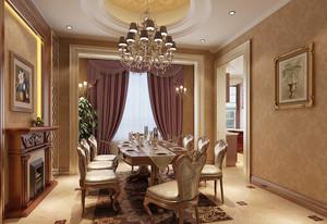 欧式风格时尚别墅餐厅装修效果图赏析
