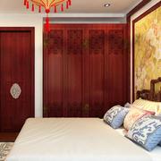 大户型中式风格卧室衣柜设计效果图
