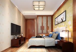 二居室中式风格卧室吊灯效果图赏析