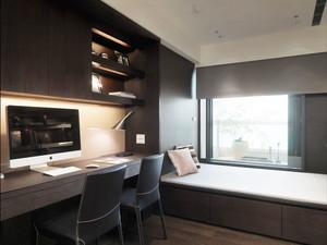大户型低调冷色调三室一厅室内装修效果图赏析
