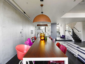 145平米复式楼现代loft风格装修效果图赏析