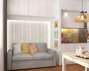 50平米北欧风格女生单身公寓装修效果图赏析