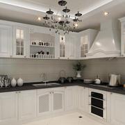 110平米欧式风格厨房橱柜设计效果图
