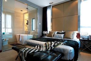 现代简约风格大户型卧室卫生间隔断效果图