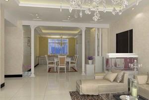 现代简约风格三居室客厅门套设计效果图