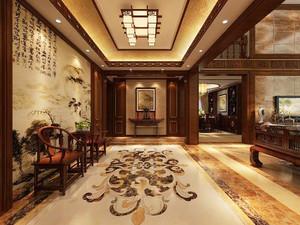 中式风格别墅过道吊顶装修效果图